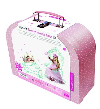 Stitch It Flowery Princess Tiaras Kit
