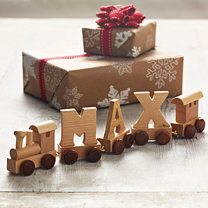 Personalised Wooden Name Train - best gifts under £50