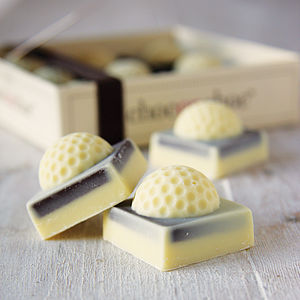 Chocolate Mini Golf Balls - 80th birthday gifts