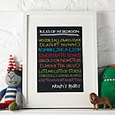 Personalised Children's Bedroom Print
