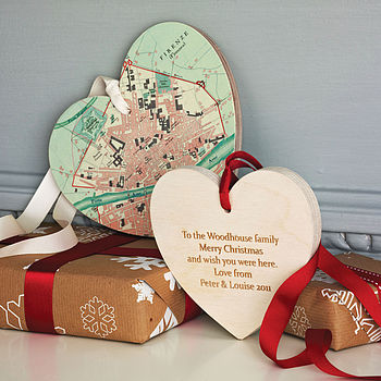 Personalised Christmas Map Heart