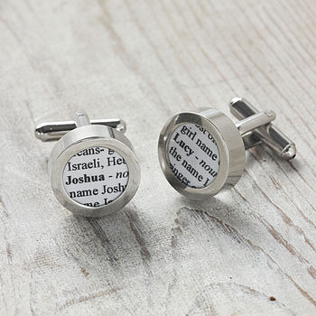 Personalised Naming Book Cufflinks
