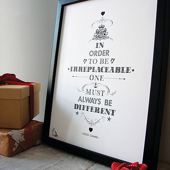 'Always Be Different' Print