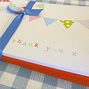 Pack Of 10 Bunting Thank You Cards