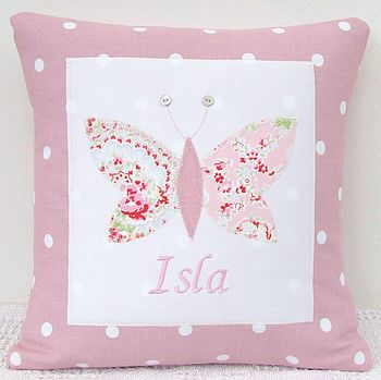 Personalised Spotty Pink Cushion