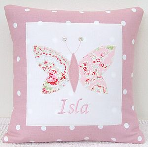Personalised Spotty Pink Cushion - children's cushions