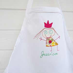 Apron Personalised With Your Child's Art - kitchen accessories