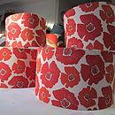 100% Poppy Print Linen Lampshades