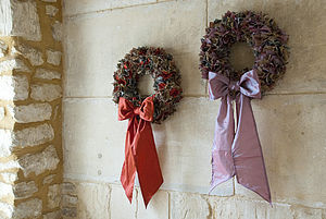 Tweed Fabric Wreath - parties