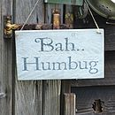 'Bah Humbug' Christmas Sign