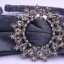 Pewter Silk and Diamante Hair Band