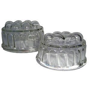 Small Vintage Glass Jelly Moulds - cake stands