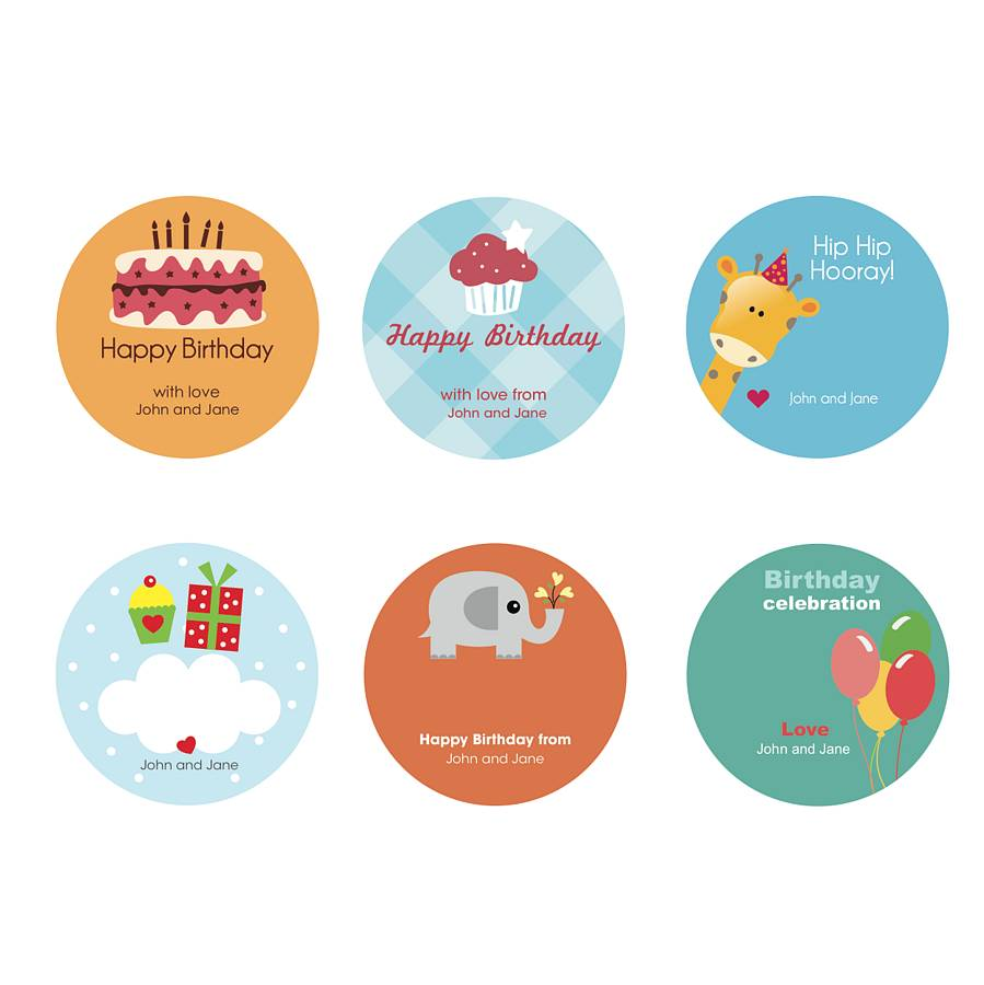 Childs Personalised Gift Sticker Designs