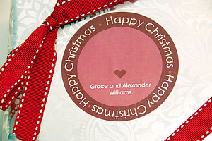 Personalised Christmas Gift Stickers - christmas stickers