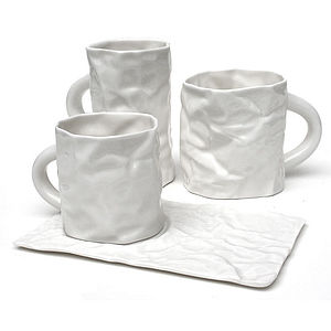 Fine Porcelain White Crinkleware - kitchen