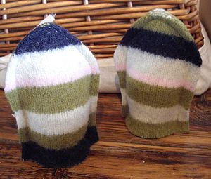 Stripy Egg Cosy - egg cups & cosies