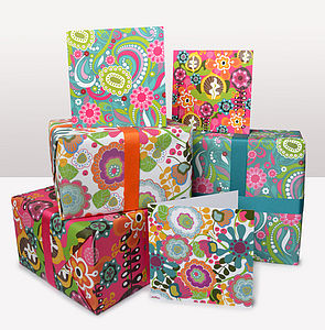 Bloom Gift Wrap and Card Set - wrapping paper