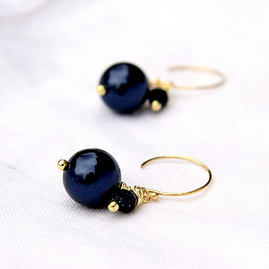 Circle Earrings Made With Swarovski Glass Pearls