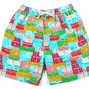 Men's Luggage Trunks Swim Shorts