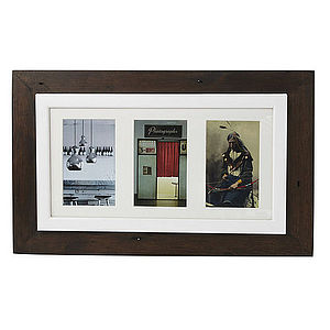 Reclaimed Wooden Multi Photo Frame - albums & keepsakes