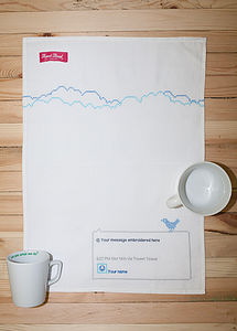 Personalised Tweet Towel
