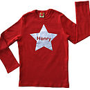 Personalised Star T Shirt