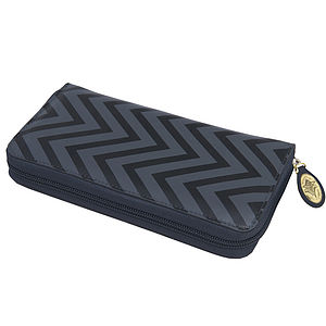 Maddox Chevron Zip Wallet
