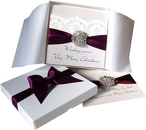 Opulence Luxury Personalised Christmas Card - cards