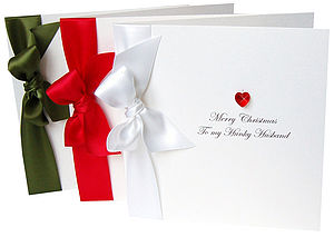 Bedazzled Personalised Christmas Card - cards
