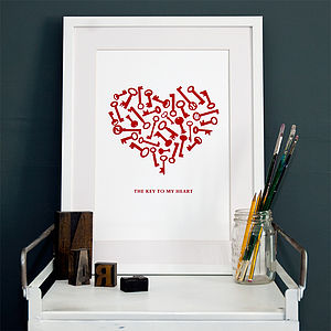 'The Key To My Heart' Print