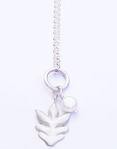 Silver And Freshwater Pearl Pendant