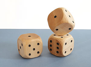 Giant Handmade Wooden Dice - traditional toys