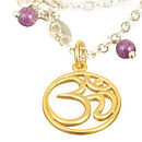 Gold And Silver Ohm Necklace