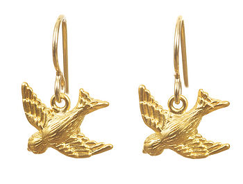 Gold Songbird Earrings