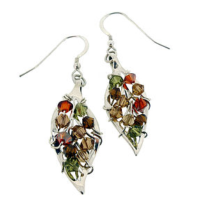 Sterling Silver Four Seasons Leaf Earrings - earrings