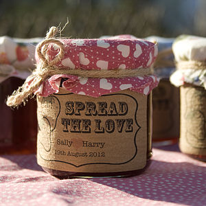 18 'Spread The Love' Favour Stickers - jams & preserves