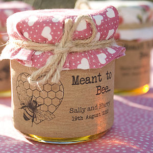 18 'Meant To Bee' Honey Favour Stickers - unusual favours