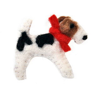 Fox Terrier Brooch - pins & brooches