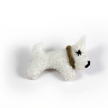 Scottie Dog Felt Brooch