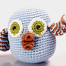 Crochet Owl Rattle Toy
