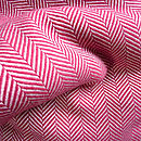 Extra Fine Merino Herringbone Throw - Cherry