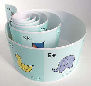 Soft Green Alphabet Frieze - children's room