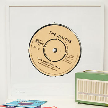 'This Charming Man' Record Label Print