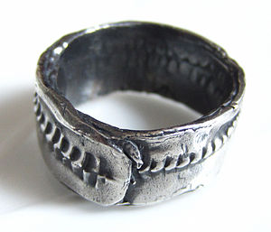 Sterling Silver HIP Ring For Men