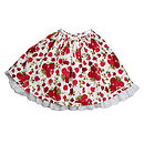 Red Roses Lace Edged Skirt