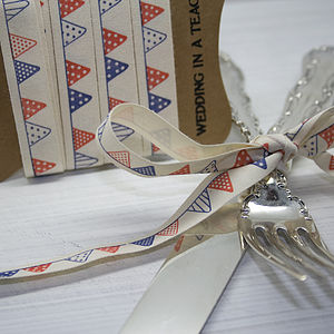 Bunting Cotton Ribbon - wedding stationery