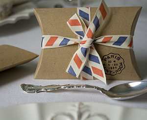Set Of Ten Rustic Pillow Boxes - wedding favours