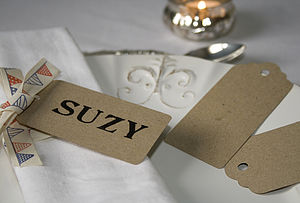 20 Large Rustic Luggage Tags - ribbon & wrap
