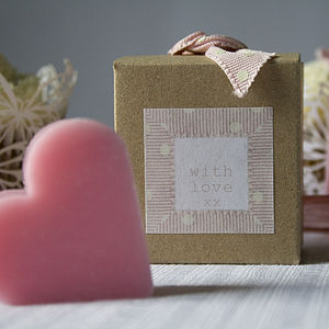'With Love' Mini Soap Favour - wedding favours