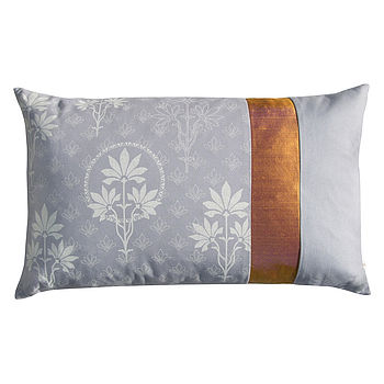 Organic Patchwork Cushion Grey